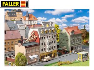 Faller-H0-191748-Stadthaeuserzeile-Breitestrasse-NEU-OVP