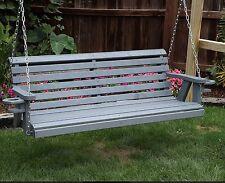 Cinnamon Brown Heavy Duty Rustic Solid Wood Porch Swing Ebay
