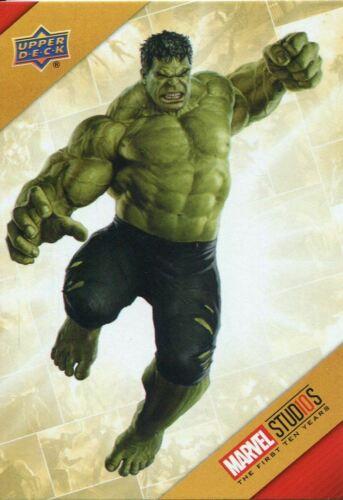 Marvel Ten Years Cinematic Universe Chase Card TU4 Hulk 10