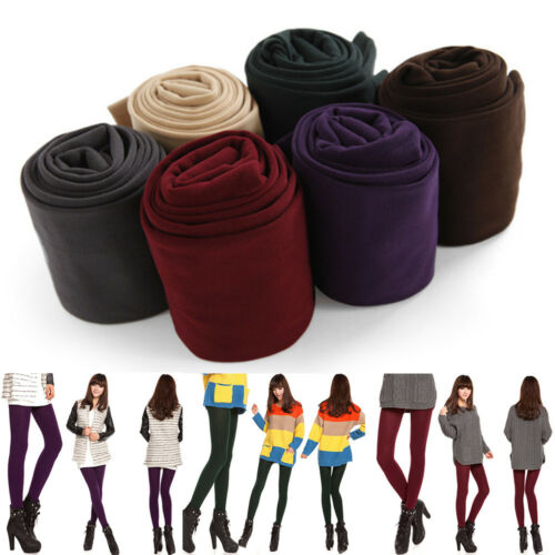 Women Thermal Thick Fleece Lined Slim Leggings Stretch Pants Stockings Winter