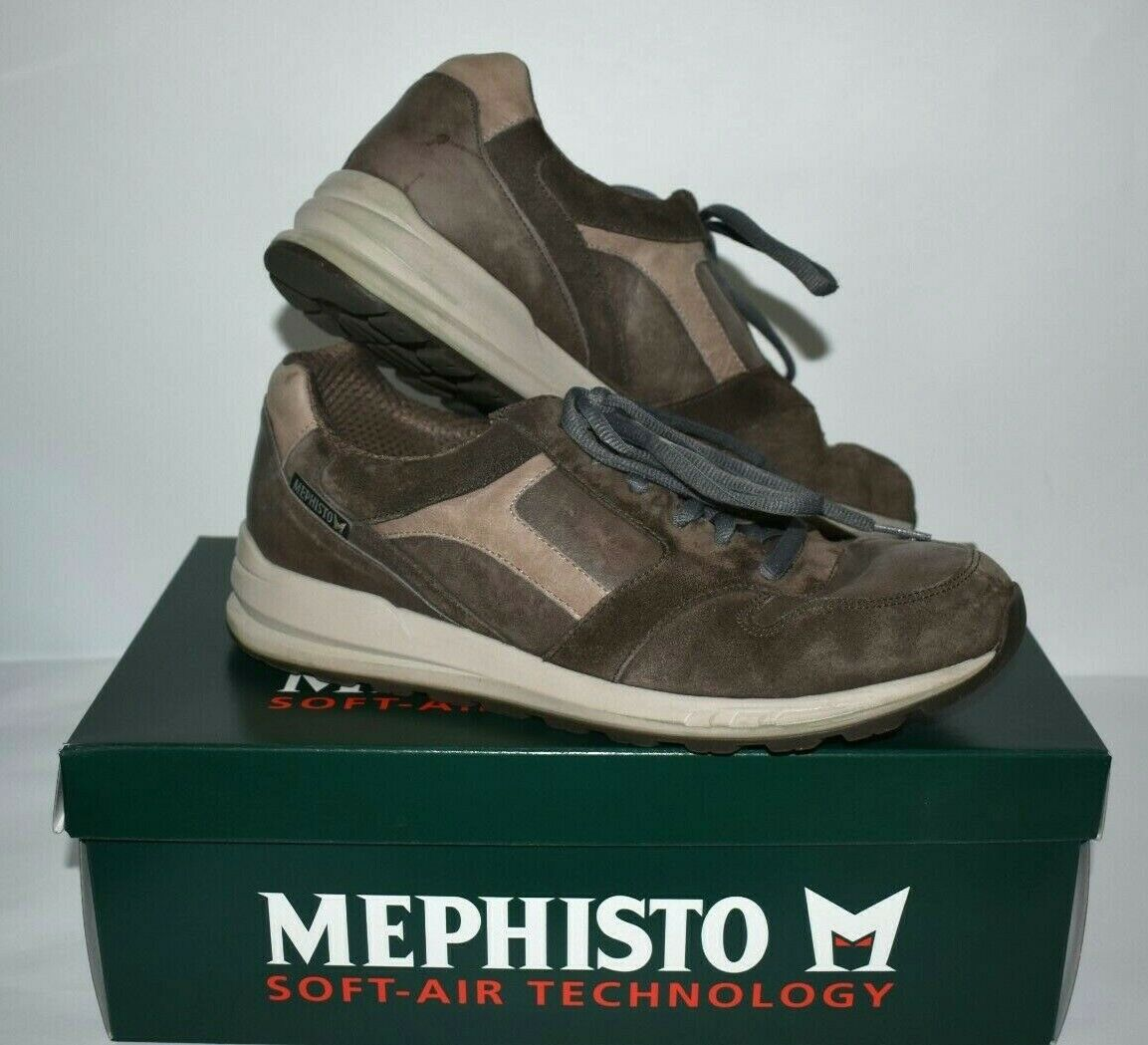 Mephisto Men's Runoff Air Jet System Leather Sneakers Lace Up Gray Size Size 9.5