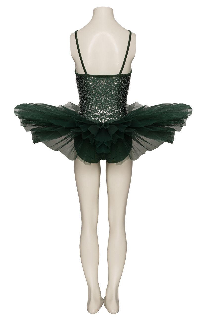 Forest Grün Funkelnd Tutu mit mit mit Silber Pailletten Tanz Ballett Kostüm von Katz d32be2