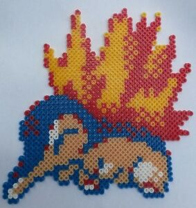 Details About Cyndaquil Pokemon Bead Sprite Perler Pixel Art Perles à Repasser