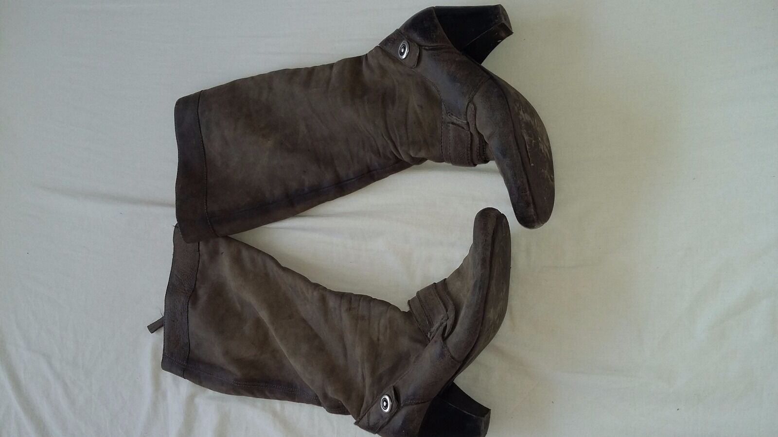 Ladies Vintage boots by unknown,size 38/UK5,used,le<wbr/>ather