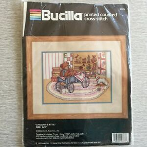Vintage Grandma/'s Attic 9x12 Counted Cross-Stitch kit #40378 Complete New and Unopened