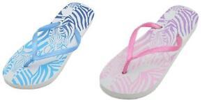 66917a501b8ff femmes Zèbre tongs sandales pointure 3 4 5 6 7 8 NEUF 1 paire   eBay