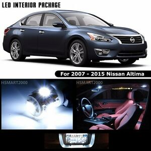 12pcs cool white led bulbs interior package for 2007 2015 nissan altima ebay 2015 nissan altima interior lights