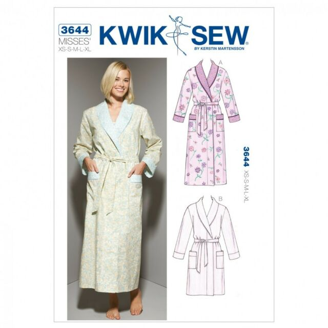 UK - Kwik Sew Ladies Sewing Pattern 3644 Dressing Gown Robes (kw ...