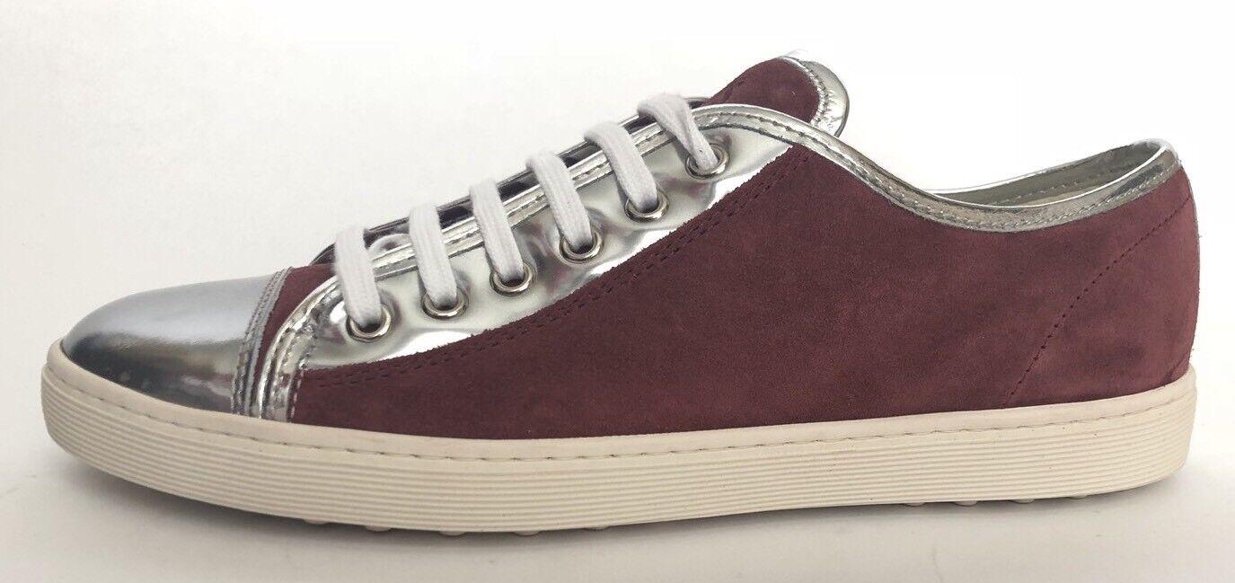 Tod's Women Women Women shoes Size 39 NIB Silver Suede Sneakers 3a5831