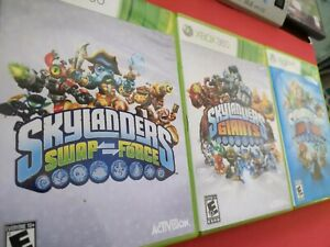 Lot of 3 Skylanders: Swap Force, Giants & Trap Team Xbox 360 Video Games rated E
