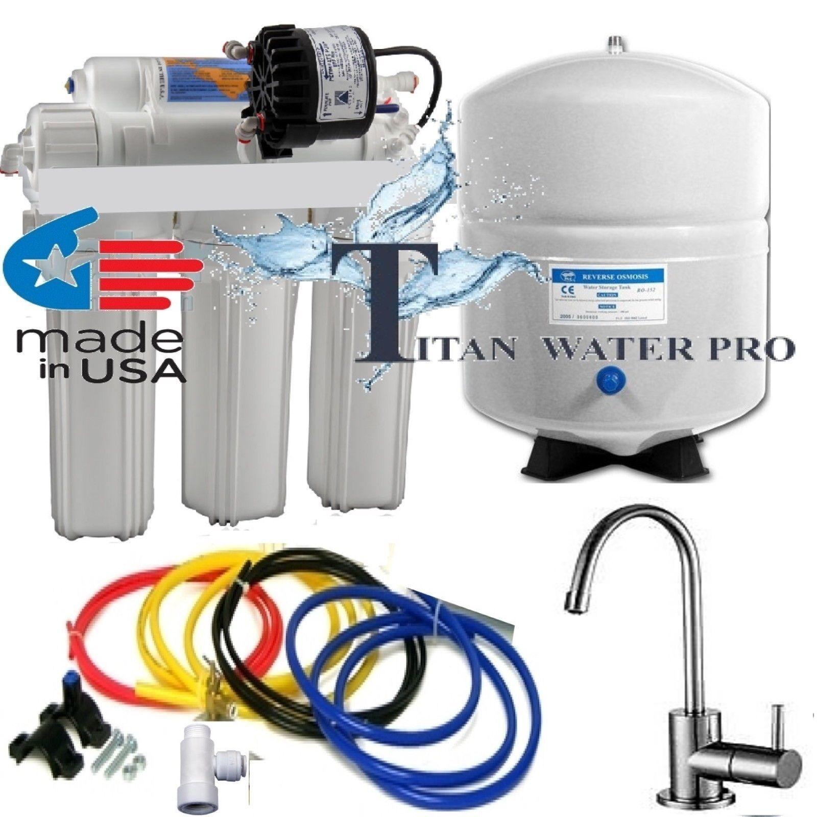 RO Osmose Inverse Filtre à Eau Système-pompe permeate ERP 1000-rouge-6 G Tank