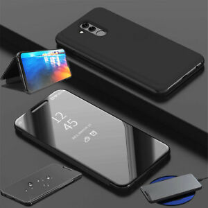 For-Xiaomi-mi-9-Clear-View-Smart-Cover-Black-Pouch-Wake-up-Cases-Protective