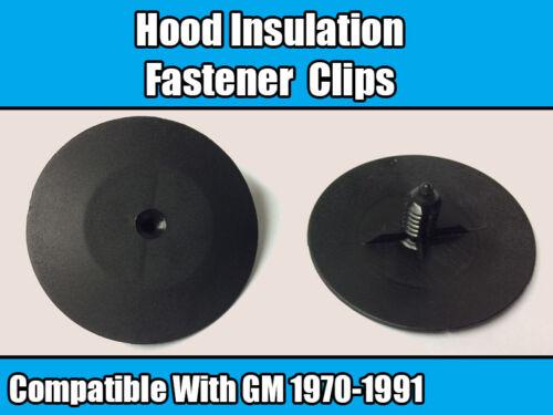 20x Clips for GM 1970-1991 HOOD ISOLATION Fastener Rivet Retainer Black Plastic