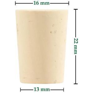 1002-000 Conique Bouchon   Longueur = 22mm, ⌀= 13-16mm Tubes à Essai Nature-bouchon-afficher Le Titre D'origine Calcul Minutieux Et BudgéTisation Stricte