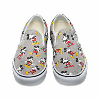 Disney X Vans Mickey Mouse Mens Shoes (new) Classic Slip-on Frost Grey Free Ship