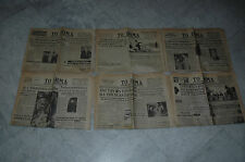 Vintage Greek Newspapers TO BHMA lot of 6 50s 60s Very Rare!