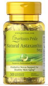 Puritan-039-s-Pride-Natural-Astaxanthin-5-mg-30-Softgels-free-shipping