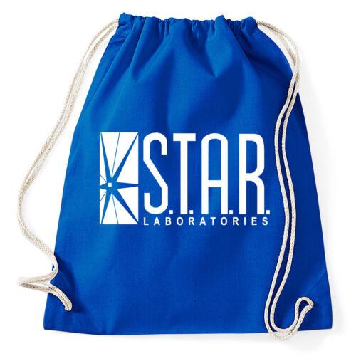 Star Laboratories Labs turn BUSTINA The Flash Logo Sport Bustina Sacchetto Juta Zaino