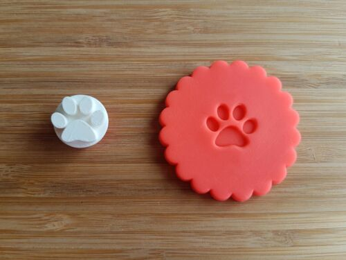 Chat ou Chien Paw Print TIMBRE de cookie ou Fondant gaufreuse Biscuit Stamp Animal