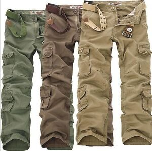 New-Casual-Men-039-s-Pants-Military-Army-Cargo-Camo-Combat-Work-Trousers