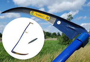 Sense-50cm-geschmiedet-geschaerpft-mit-dem-Sensestiel-150cm-extra-Wetzstein-3in1