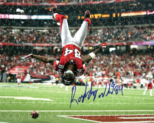 Roddy White Signed Atlanta Falcons 8X10 photo picture poster autograph RP