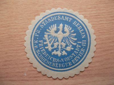 Siegelmarke Pr 12791 K GüNstiger Verkauf Standesamt Berlin Iii Friedrichs-vorstadt I