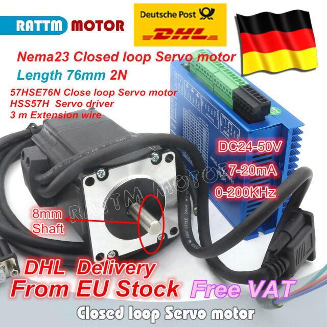 【DE】 2set Nema23 2N.m Closed Loop Servo Motor 76mm + HSS57 Hybrid Driver CNC Kit