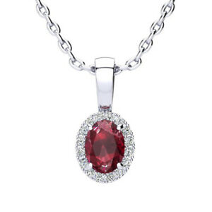 14K-WHITE-GOLD-0-62-CARAT-OVAL-RUBY-AND-HALO-DIAMOND-NECKLACE-WITH-18-034-CHAIN