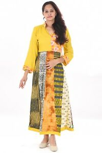 Indian Multi Printed Dress 100 Cotton Women S Summer Cocktail