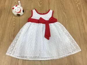 Baby-Girl-Korea-White-Riboon-Dress-Size-L
