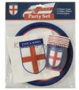 World-Cup-Party-18-pc-England-Party-Set-Plates-Cups-Napkins-Free-Post-in-Uk