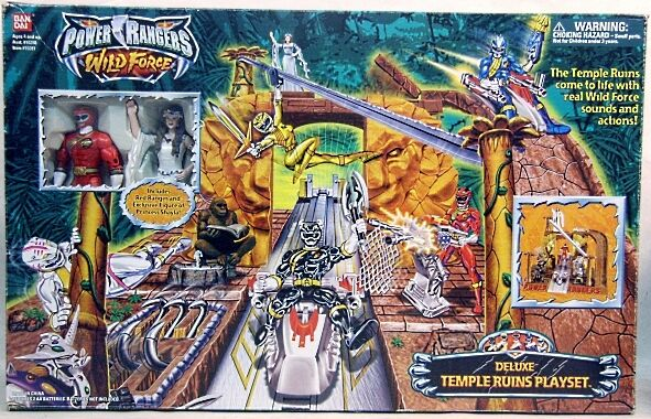 Power Rangers Wild Force Deluxe Temple Ruins Playset W Sound Princess Shayla Red