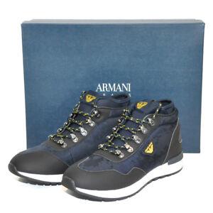 d70750db3b14 Das Bild wird geladen ARMANI-JEANS -Schuhe-Winterschuhe-Sneaker-LUXUS-UVP-220-