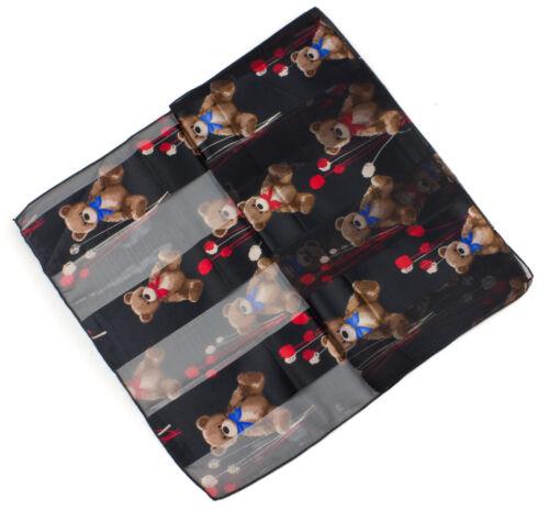 Teddy Bear Printed Scarf Cute Bears Fashion Scarf Christmas// Birthday Gift scarf