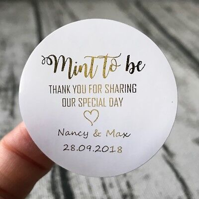 Silver Rose Gold Foil Personalized Gift Labels Baby Shower Thank You Stickers