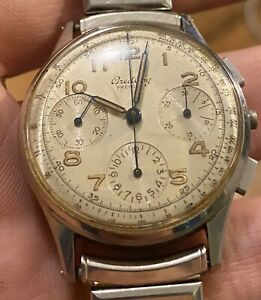 BREITLING-MEN-039-S-VINTAGE-PREMIER-CHRONOGRAPH-STAINLESS-STEEL-787-WATCH-FOR-PARTS