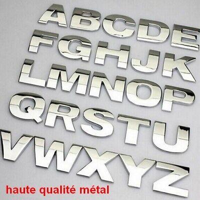 Hauteur de 5/cm Lettres en chrome argent autocollantes 3D pour voiture