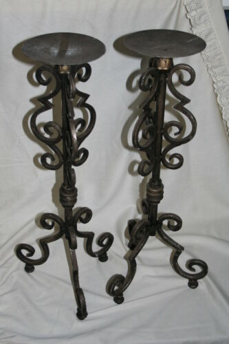 Wholesale stock job lot Ornate Metal Church Candle Stand Pair 80cm Tall