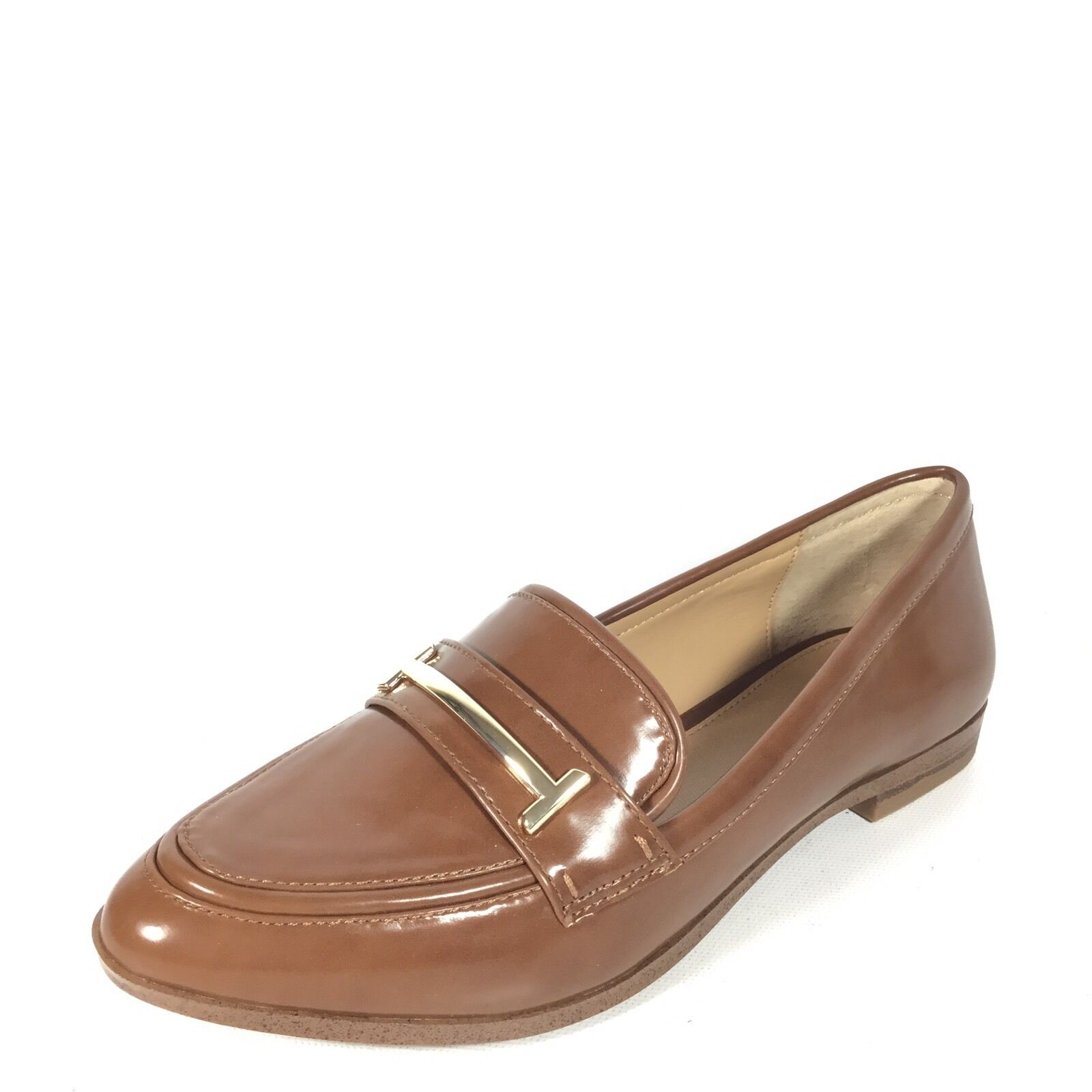 abfbd5332fc Alfani Womens Ameliaa Leather Closed Toe Loafers Cognac Size 7.0 ...