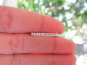 .24 Carat Diamond White Gold Half Eternity Ring 14k codeHE03 MTO sepvergara