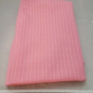 Vintage-1960-70-039-s-Stretch-Lightweight-Double-Knit-Pink-White-Stripe-1-yd-7-034-60-034-W