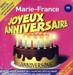 Joyeux Anniversaire Marie France 10 Titres Ebay