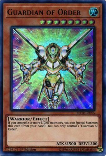 Near Mint 1st Edition x3 Ultra Rare Guardian of Order BLHR-EN075