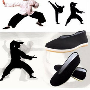 Details about Chinese Kung Fu Tai Chi Shoe Men Martial Art Ninja Cotton  Sole Slipper Slip On t