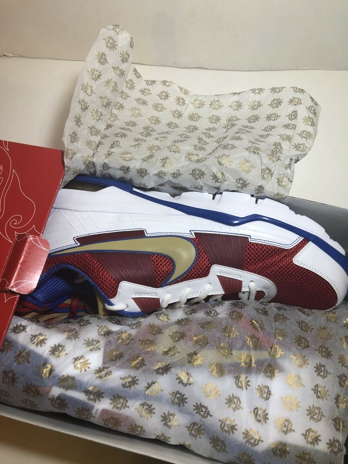 2010 Nike Air Max Trainer SC Low 407846-176 Pac Man Manny Pacquiao Size 14