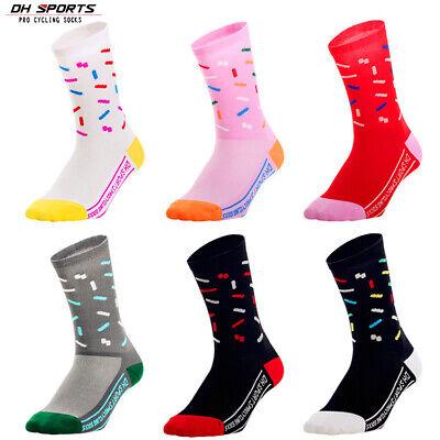Mens Women Cycling Sports Socks Breathable Running Bike Knee Socks High Quality