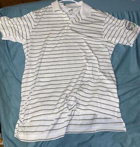 Men's Adidas Climacool Polo Bud Light Lime Promo Shirt Size Large Limited Print