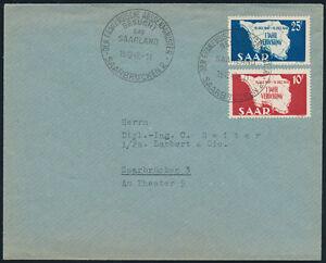 SAARLAND-1948-MiNr-260-261-260-61-Ersttagsbrief-Mi-50
