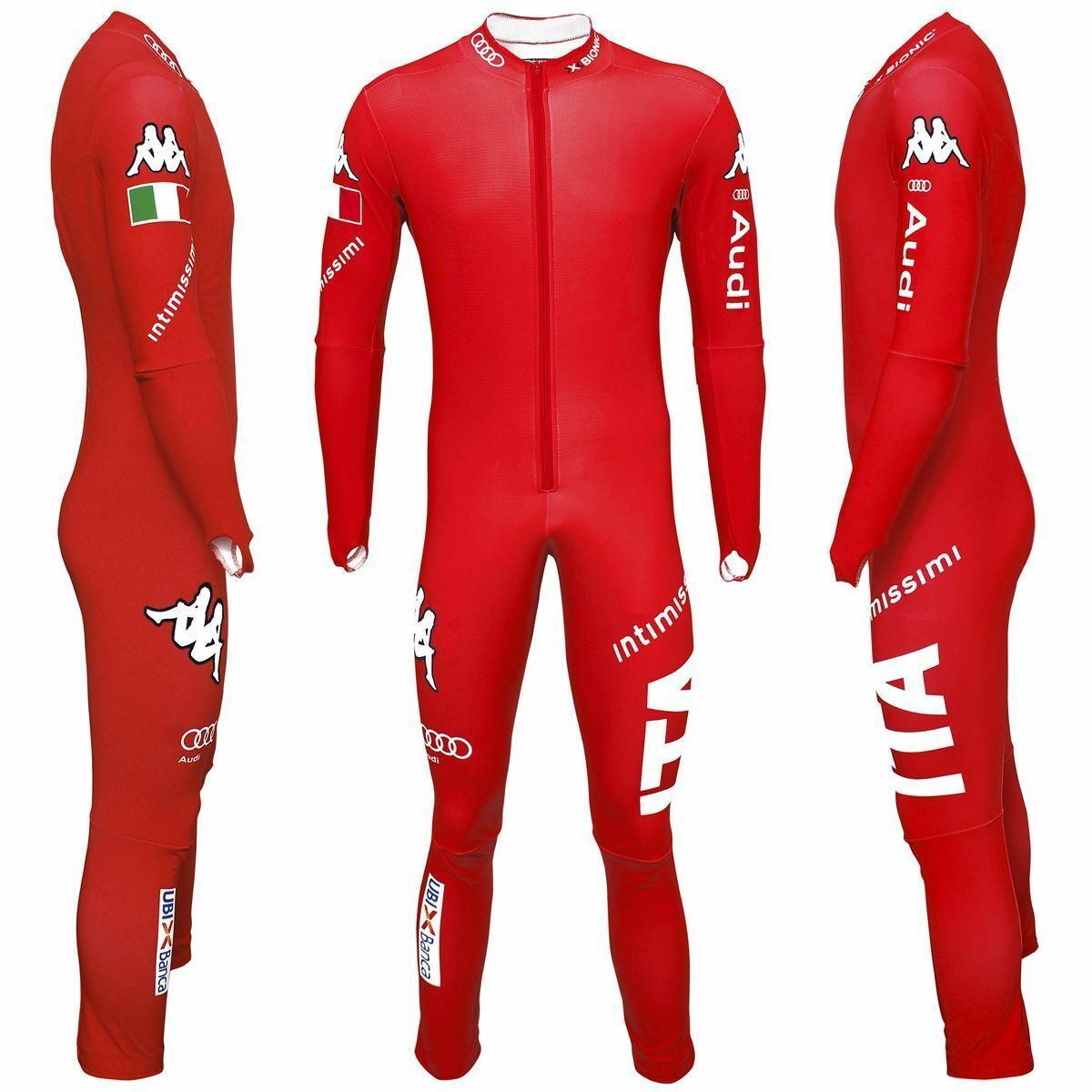 Kappa Ski Rennanzug Race Racing Speed Suit XL Rot Neu Italia NationalTeam SG DH